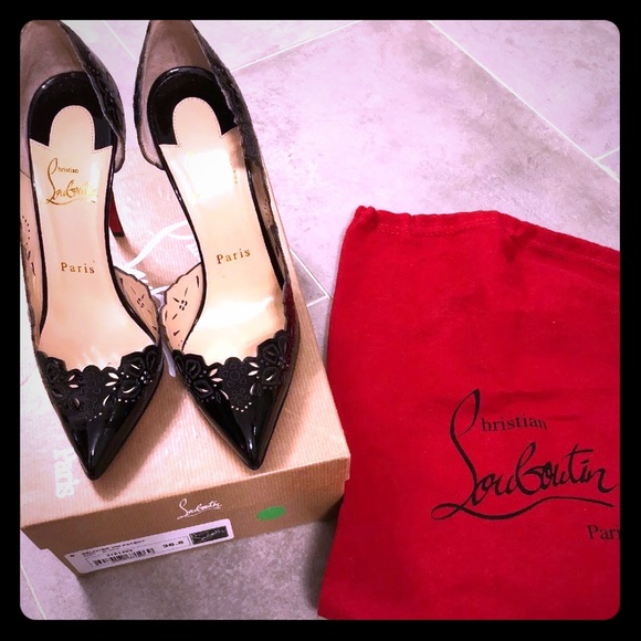 367552d7acfe Christian LOUBOUTIN  NIB  Beloved 100 Black Sz6.5